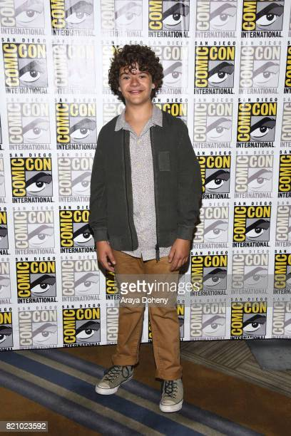 Gaten Matarazzo attends the 'Stranger Things' press conference at ComicCon International 2017 on July 22 2017 in San Diego California