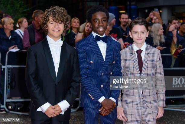 Gaten Matarazzo Caleb McLaughlin and Noah Schnapp attend the GQ Men Of The Year Awards at Tate Modern on September 5 2017 in London England