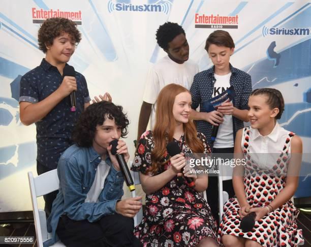 Gaten Matarazzo Caleb McLaughlin Noah Schnapp Finn Wolfhard Sadie Sink and Millie Bobby Brown attend SiriusXM's Entertainment Weekly Radio Channel...
