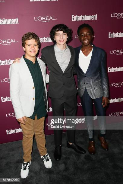 Gaten Matarazzo Finn Wolfhard and Caleb McLaughlin attend the Entertainment Weekly's 2017 PreEmmy Party at the Sunset Tower Hotel on September 15...