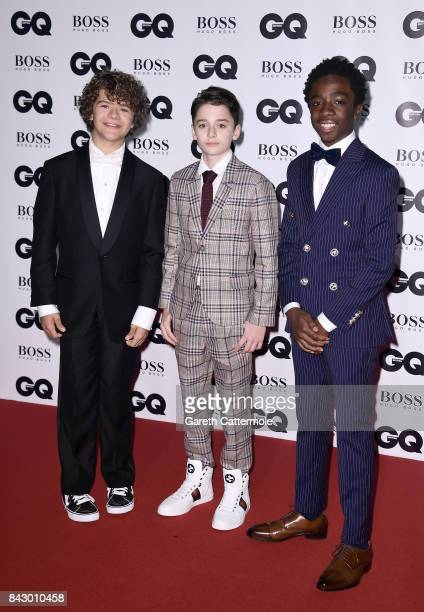 Gaten Matarazzo Noah Schnapp and Caleb McLaughlin attend the GQ Men Of The Year Awards at the Tate Modern on September 5 2017 in London England