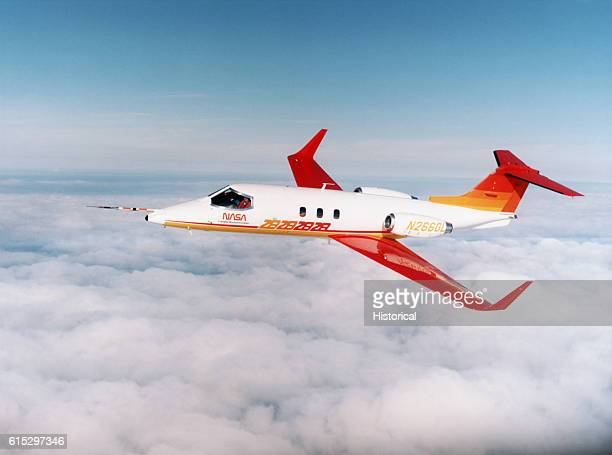Gates Learjet Model 28/29 Longhorn a lowwing twinengine light business jet used for research Shown in flight