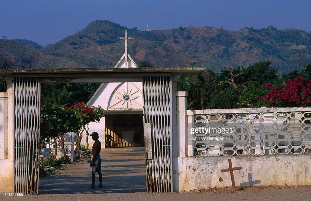 Gates of the Santa Cruz cemetery, site of the 1991 massacre, Dili.