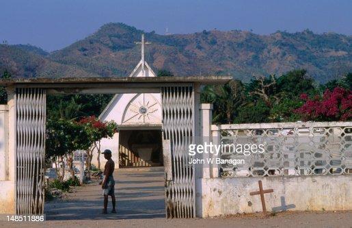 Gates of the Santa Cruz cemetery, site of the 1991 massacre, Dili.
