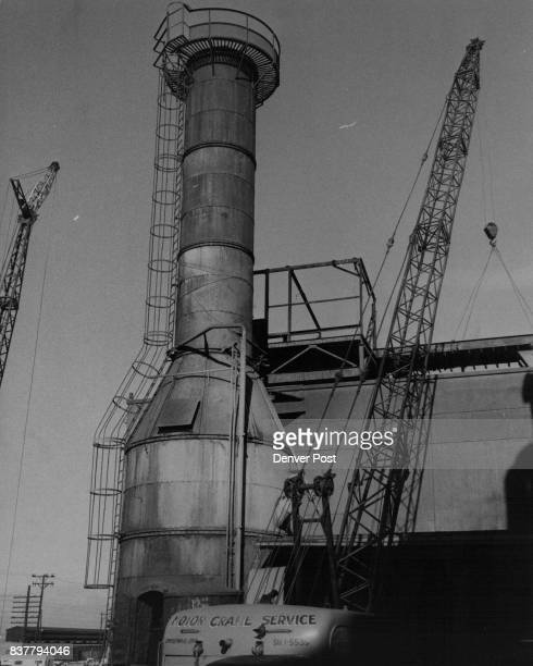 Gates Rubber Co Tears Down Incinerator Stack The 80foot stack is razed as plant cuts trash burning Credit Denver Post