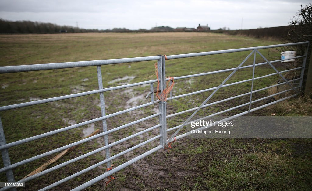 Gates to a field are tied shut in Rostherne, Cheshire, on the route of the new prposed HS2 high speed rail link on January 28, 2013 in Knutsford, United Kingdom. The government has today released details of the next phase of the GBP 32 billion HS2 high-speed rail network, which will link Manchester and Leeds.