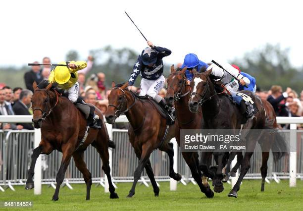 Gatewood ridden by William Buick gets up to win the Wolferton Handicap during day four of the 2012 Royal Ascot meeting at Ascot Racecourse Berkshire