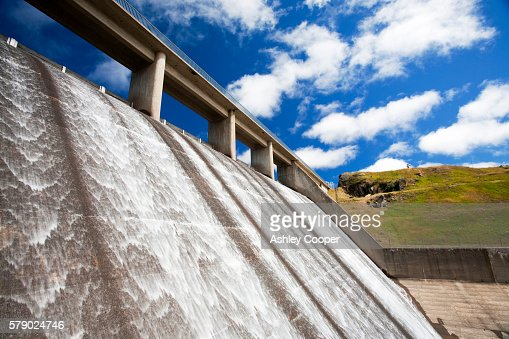 Gathega Dam supplying the water to power Guthega power station as part of the Snowy mountains hydro scheme, New South Wales, Australia. : Stock Photo