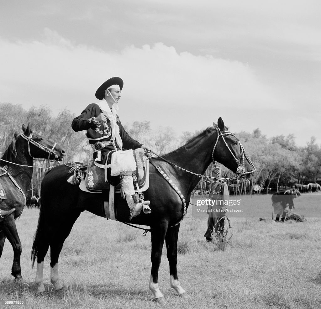 Gaucho sits on his horse at the Patria Grande Festival as he gets ready for the Prada Criolla Rodeo in Montevideo Uruguay