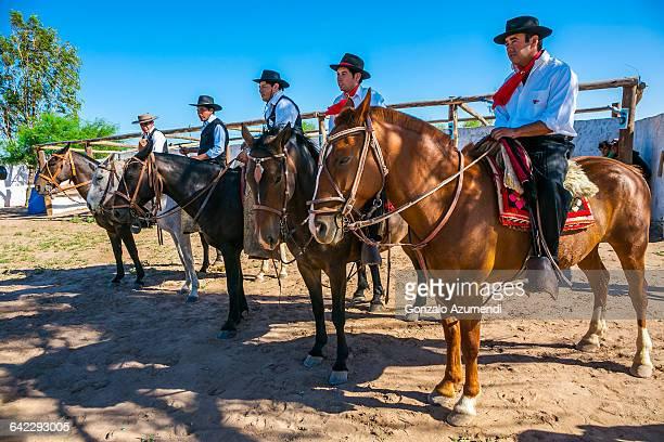 Gauchos in Chepes in Argentina