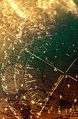 Gauge over map (Digital Composite)