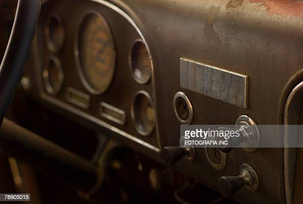 Gauges in a rustbucket.