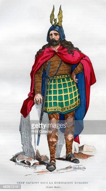 Gaul chief under the Roman occupation 1st century BC 5th century AD A print from La France et les Français à Travers les Siècles Volume I F Roy...