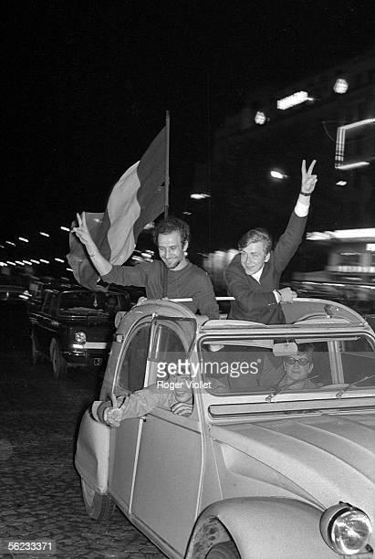Gaullist demonstration on the ChampsElysees Paris June 1968 HA214514