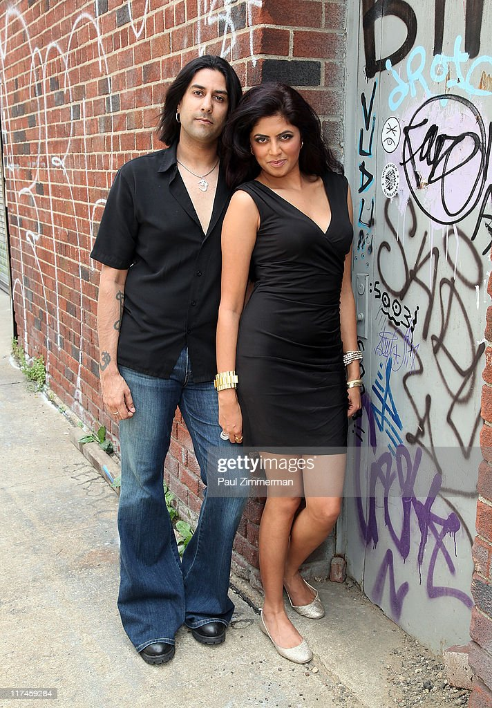 Gaurav Bali and Kavita Kaushik on the set of the Eve to Adam 'Run Your Mouth' music video shoot on the streets of Brooklyn on June 26, 2011 in New York City.