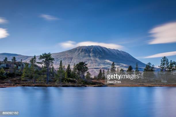 Gaustatoppen - Highest mountain in Telemark county, Norway