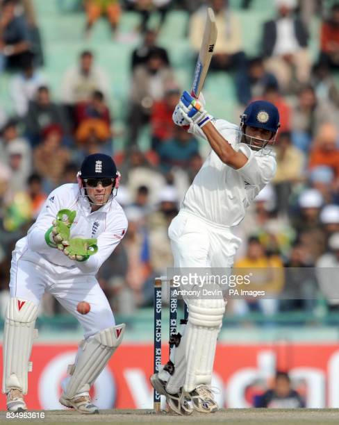 Gautam Gambhir bats during the fifth day of the second test at the Punjab Cricket Association Stadium Mohali India