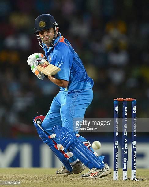 Gautam Gambhir of India bats during the ICC World Twenty20 2012 Group A match between England and India at R Premadasa Stadium on September 23 2012...
