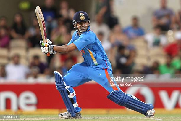 Gautam Gambhir of India bats during the One Day International match between India and Sri Lanka at Adelaide Oval on February 14 2012 in Adelaide...