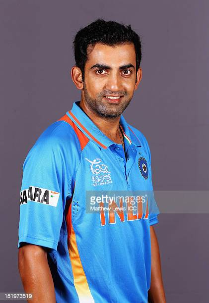 Gautam Gambhir of India pictured during a India Portrait session ahead of the ICC T20 world Cup at the Taj Samudra Hotel on September 14 2012 in...