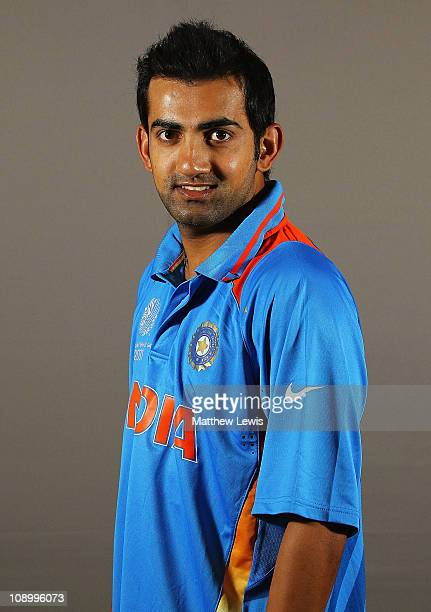 Gautam Gambhir of India poses during a portrait session ahead of the 2011 ICC World Cup at the ITC Gardenia on February 11 2011 in Bangalore India