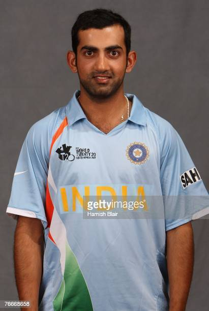 Gautam Gambhir of India poses for a photo during a portrait session at the Southern Sun Elangeni Hotel on September 11 2007 in Durban South Africa