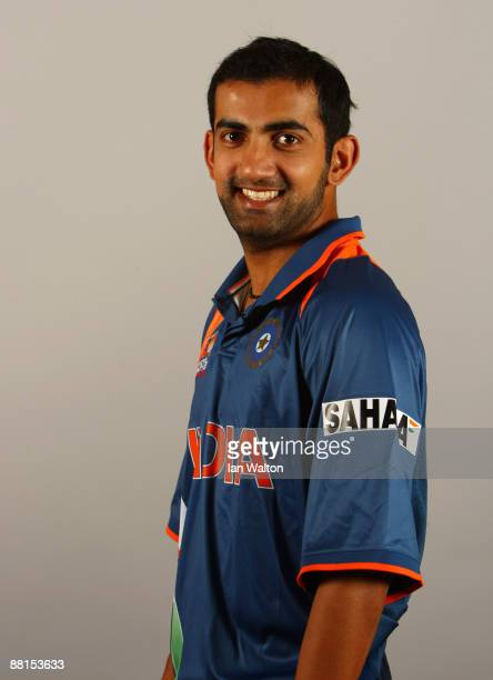 Gautam Gambhir of India poses for a portrait prior to the ICC World Twenty20 at the Royal Garden Hotel on June 2 2009 in London England