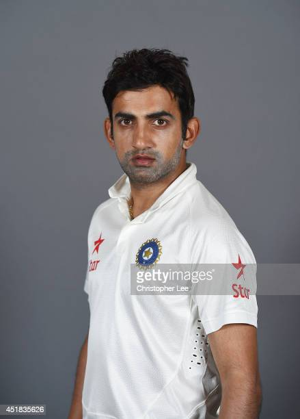 Gautam Gambhir of India poses on July 7 2014 in NottinghamEngland