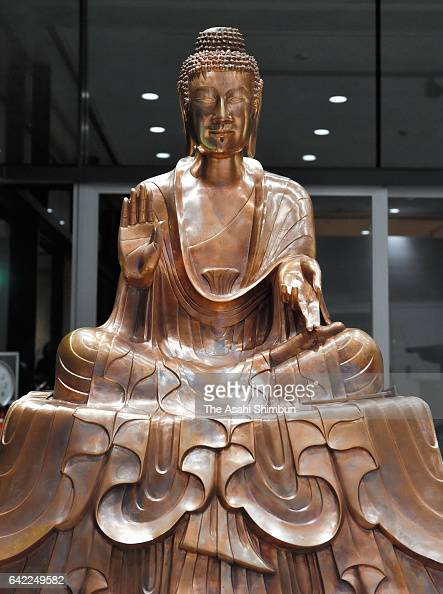 A Gautama Buddha statue replica si displayed at the Tokyo University of the Arts Ueno campus on February 16 2017 in Tokyo Japan Priceless...