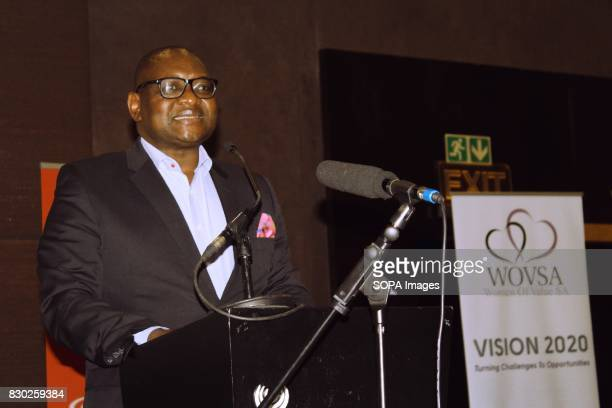 Gauteng Premier David Makhura giving the opening speech at the Annual 2nd International Women Entrepreneur Indaba The event was organised by Women of...