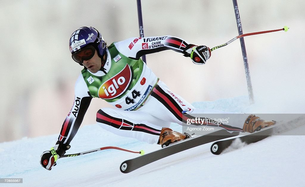 Gauthier de Tessiere of France competes on his way to taking 15th place during the FIS Skiing World Cup Men's Super-G on December 20, 2006 in Hinterstoder, Austria.