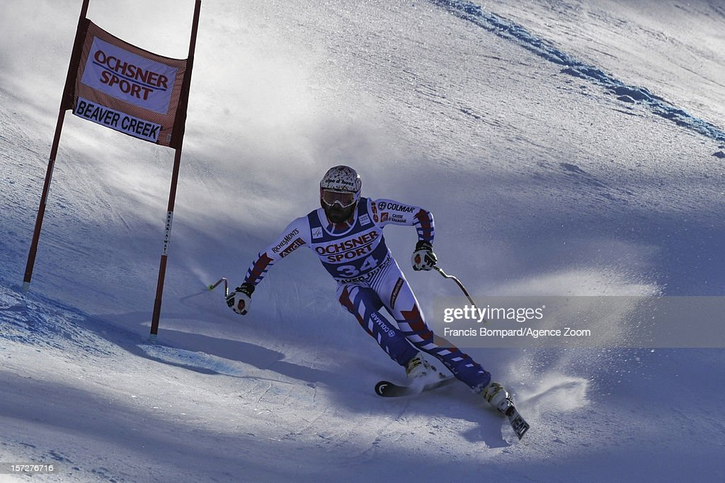 <a gi-track='captionPersonalityLinkClicked' href=/galleries/search?phrase=Gauthier+De+Tessieres&family=editorial&specificpeople=871413 ng-click='$event.stopPropagation()'>Gauthier De Tessieres</a> of France competes during the Audi FIS Alpine Ski World Cup Men's Super G on December 1, 2012 in Beaver Creek, Colorado.