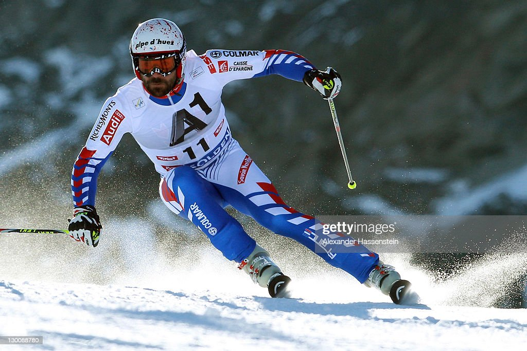 <a gi-track='captionPersonalityLinkClicked' href=/galleries/search?phrase=Gauthier+De+Tessieres&family=editorial&specificpeople=871413 ng-click='$event.stopPropagation()'>Gauthier De Tessieres</a> of France competes in the Men's Giant Slalom event of the Men's Alpine Skiing FIS World Cup at the Rettenbachgletscher on October 23, 2011 in Soelden, Austria.