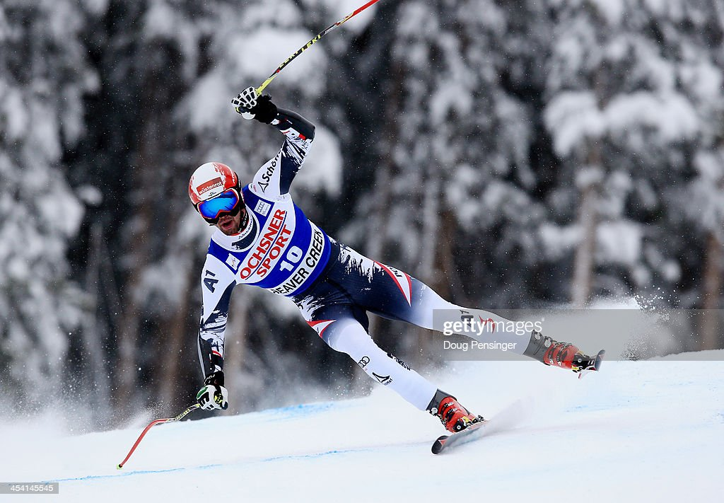 <a gi-track='captionPersonalityLinkClicked' href=/galleries/search?phrase=Gauthier+De+Tessieres&family=editorial&specificpeople=871413 ng-click='$event.stopPropagation()'>Gauthier De Tessieres</a> of France in action during the 2013 Audi FIS Beaver Creek World Cup Men's Super G race on December 7, 2013 in Beaver Creek, Colorado.
