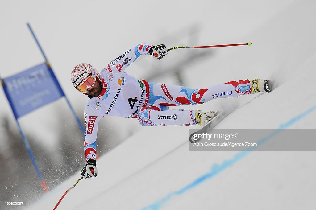 <a gi-track='captionPersonalityLinkClicked' href=/galleries/search?phrase=Gauthier+De+Tessieres&family=editorial&specificpeople=871413 ng-click='$event.stopPropagation()'>Gauthier De Tessieres</a> of France wins the silver medal during the Audi FIS Alpine Ski World Championships Men's SuperG on February 06, 2013 in Schladming, Austria.