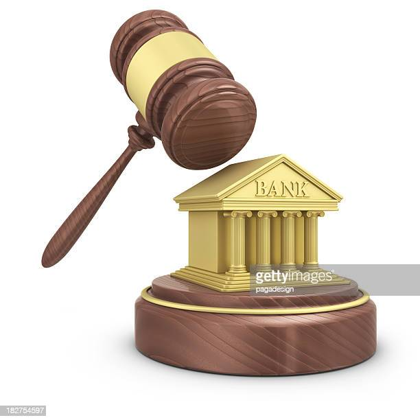 gavel and bank