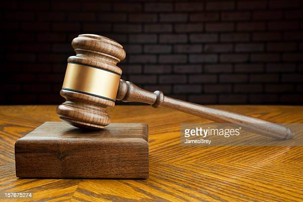 Gavel and Block on Judge's Bench