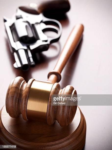 Gavel and Hand Gun
