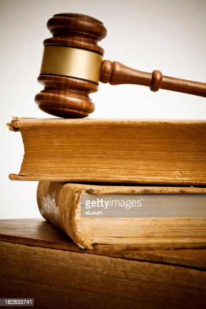 gavel and old books