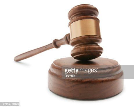 Gavel and Sound Block On White Background