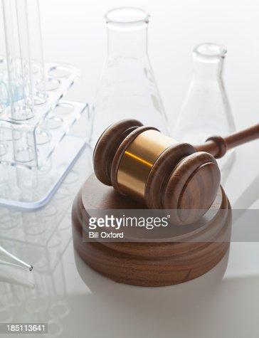 Gavel & Laboratory Equipment