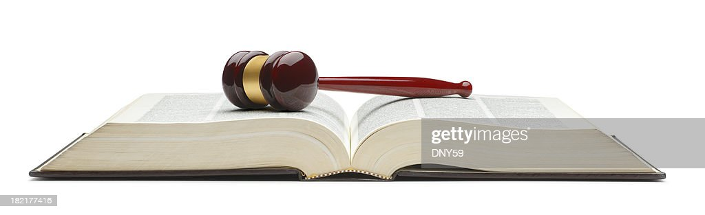 Gavel on Law Book : Stock Photo