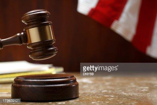 小槌印象的なサウンドブロックの法廷