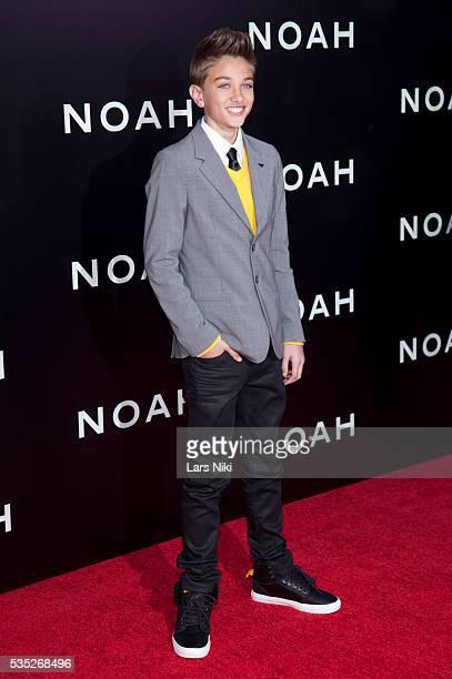 Gavin Casalegno attends the 'Noah' US premiere at the Ziegfeld Theatre in New York City © LAN