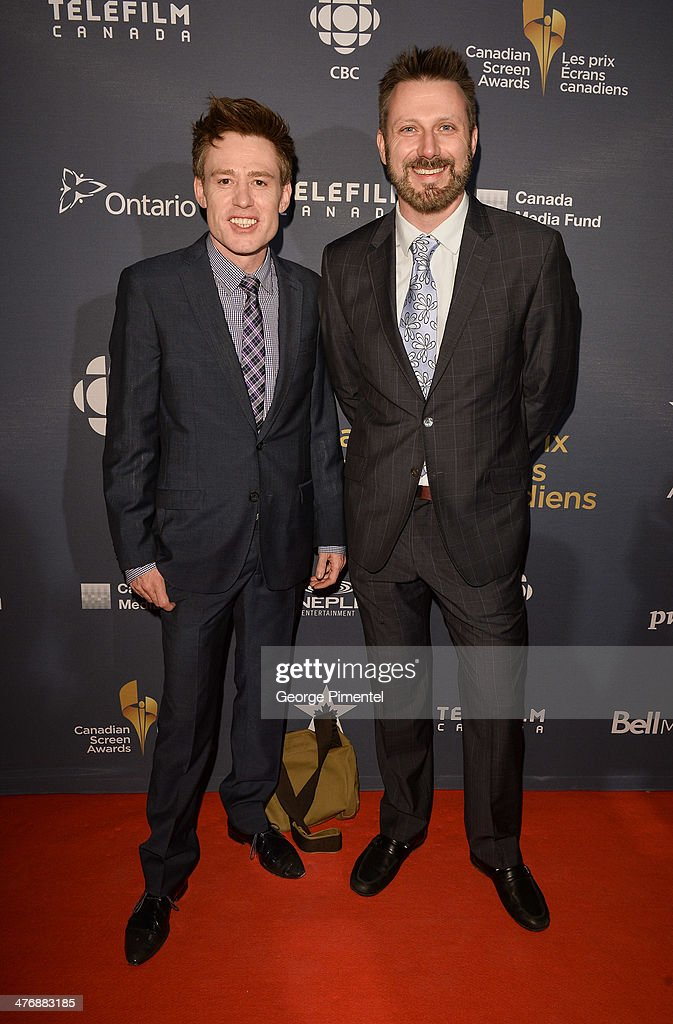 Gavin Crawford and Kyle Tingleyattend the 2014 Canadian Screen awards Industry 2 at the Sheraton Centre Toronto Hotel on March 5, 2014 in Toronto, Canada.