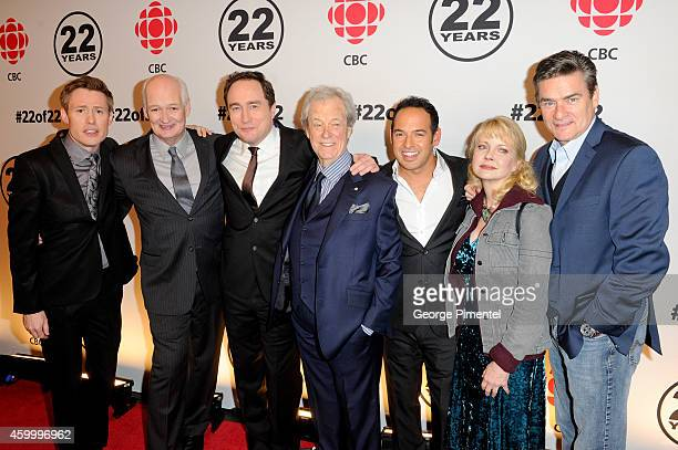 Gavin Crawford Colin Mochrie Mark Critch Gordon Pinsent Shaun Majumder Leah Pinsent and Peter Keleghan attend the This Hour Has 22 Minutes 22nd Year...