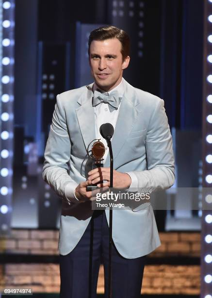 """Gavin Creel accepts the award for Best Featured Actor in a Musical for """"Hello Dolly"""" onstage during the 2017 Tony Awards at Radio City Music Hall on..."""