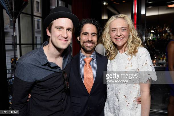 Gavin Creel Alex Lacamoire and Rachel Bay Jones attend Designed To Celebrate A Toast To The 2017 Tony Awards Creative Arts Nominees at The Lamb's...