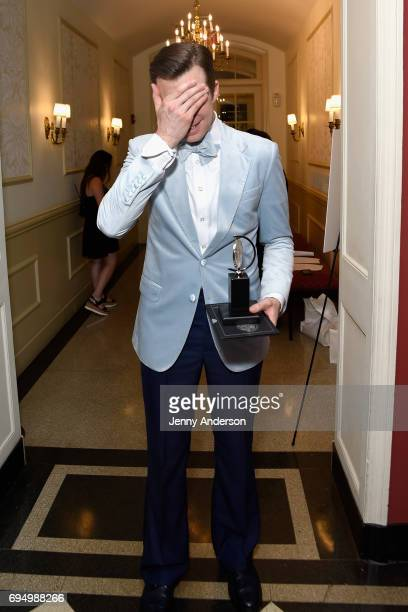 Gavin Creel winner of the award for Best Featured Actor in a Musical for 'Hello Dolly' poses in the press room during the 2017 Tony Awards at 3 West...