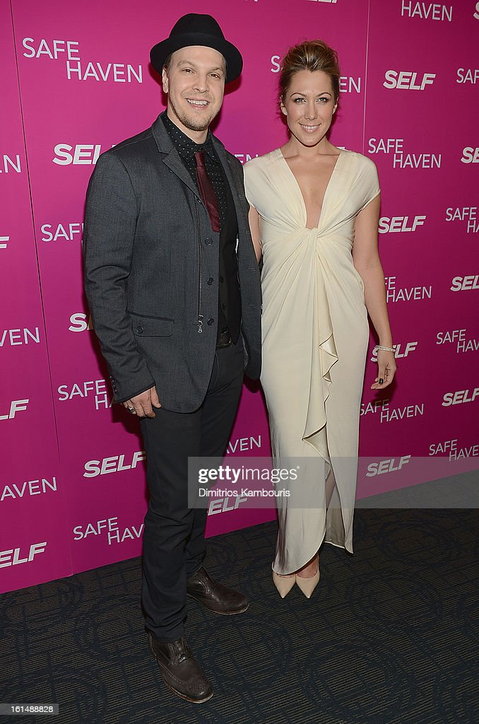 Gavin DeGraw and Colbie Caillat attend 'Safe Haven' New York Screening at Sunshine Landmark on February 11, 2013 in New York City.